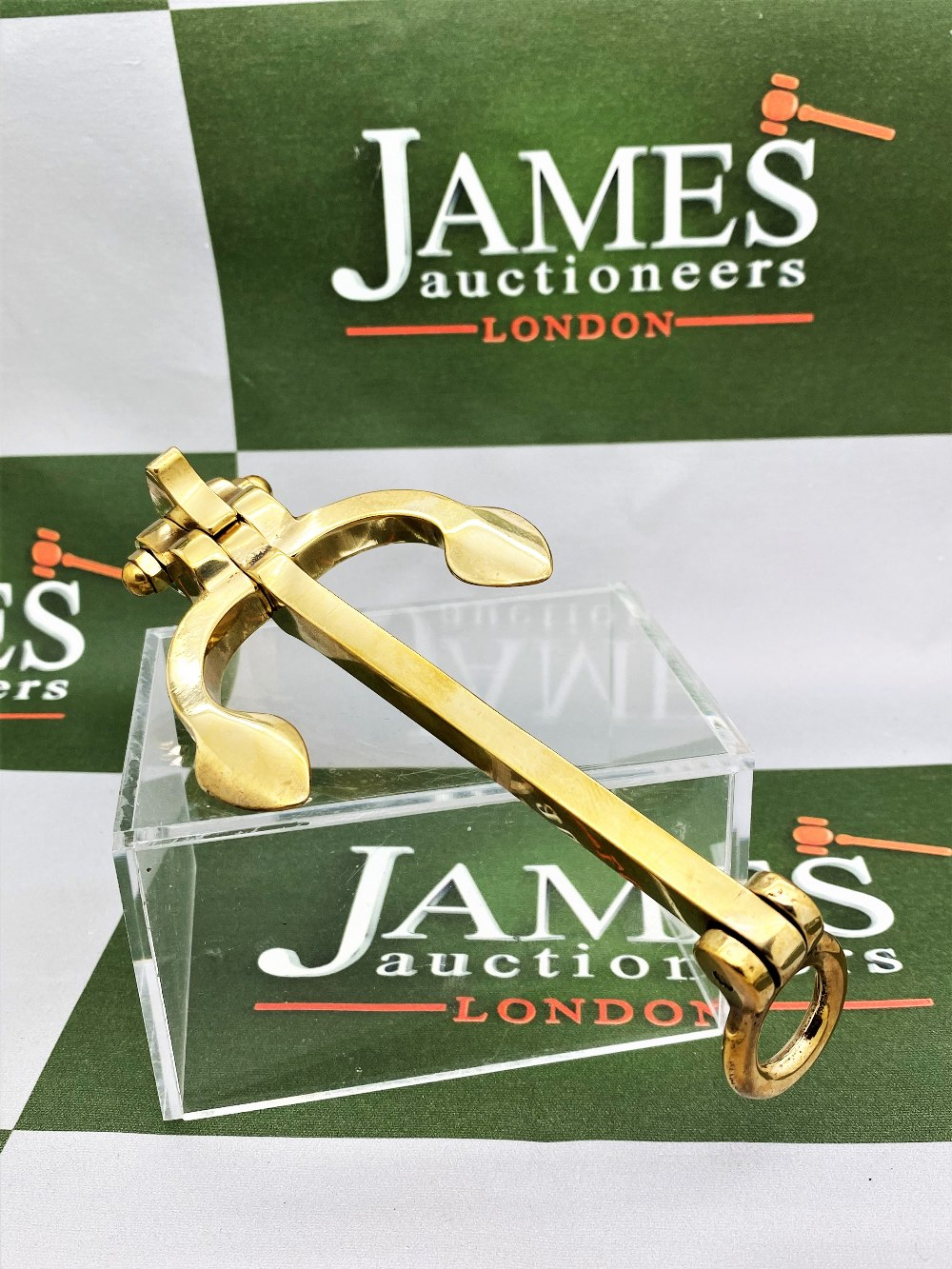 Solid Brass Large Anchor Paper Weight