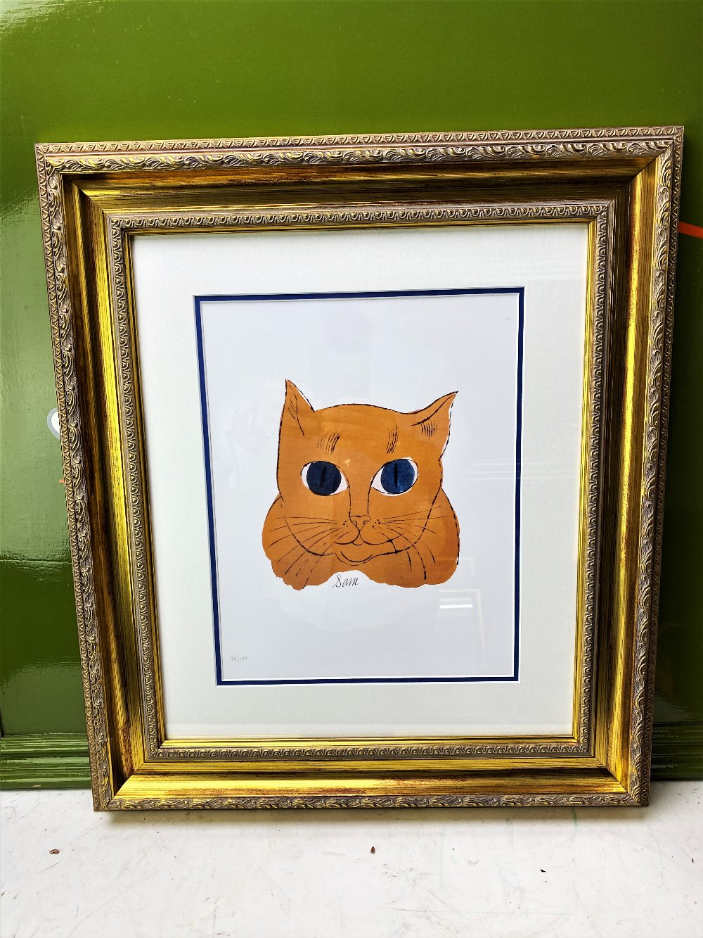 Andy Warhol 'Gold Sam' Lithograph Print/Ornate Framed - Image 5 of 5