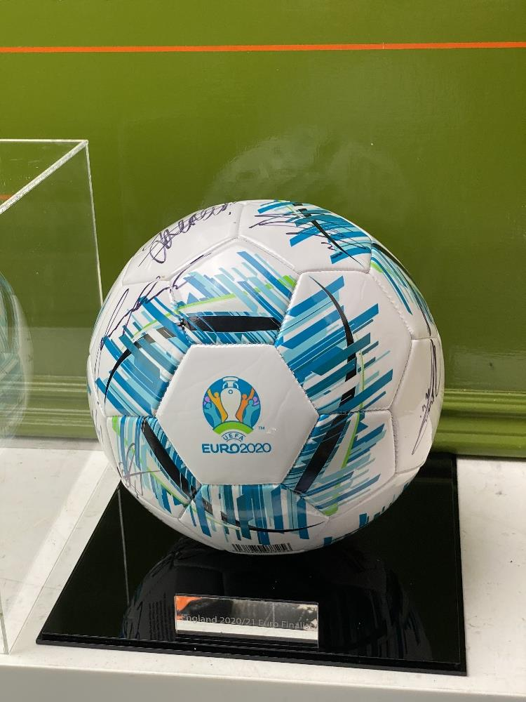 England European Finalists Signed 2020 Football & Case - Image 2 of 7