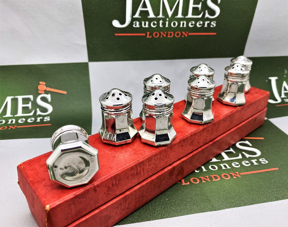 Cartier Paris Vintage Collection Of Silver 925 Salt & Pepper Cruet Set