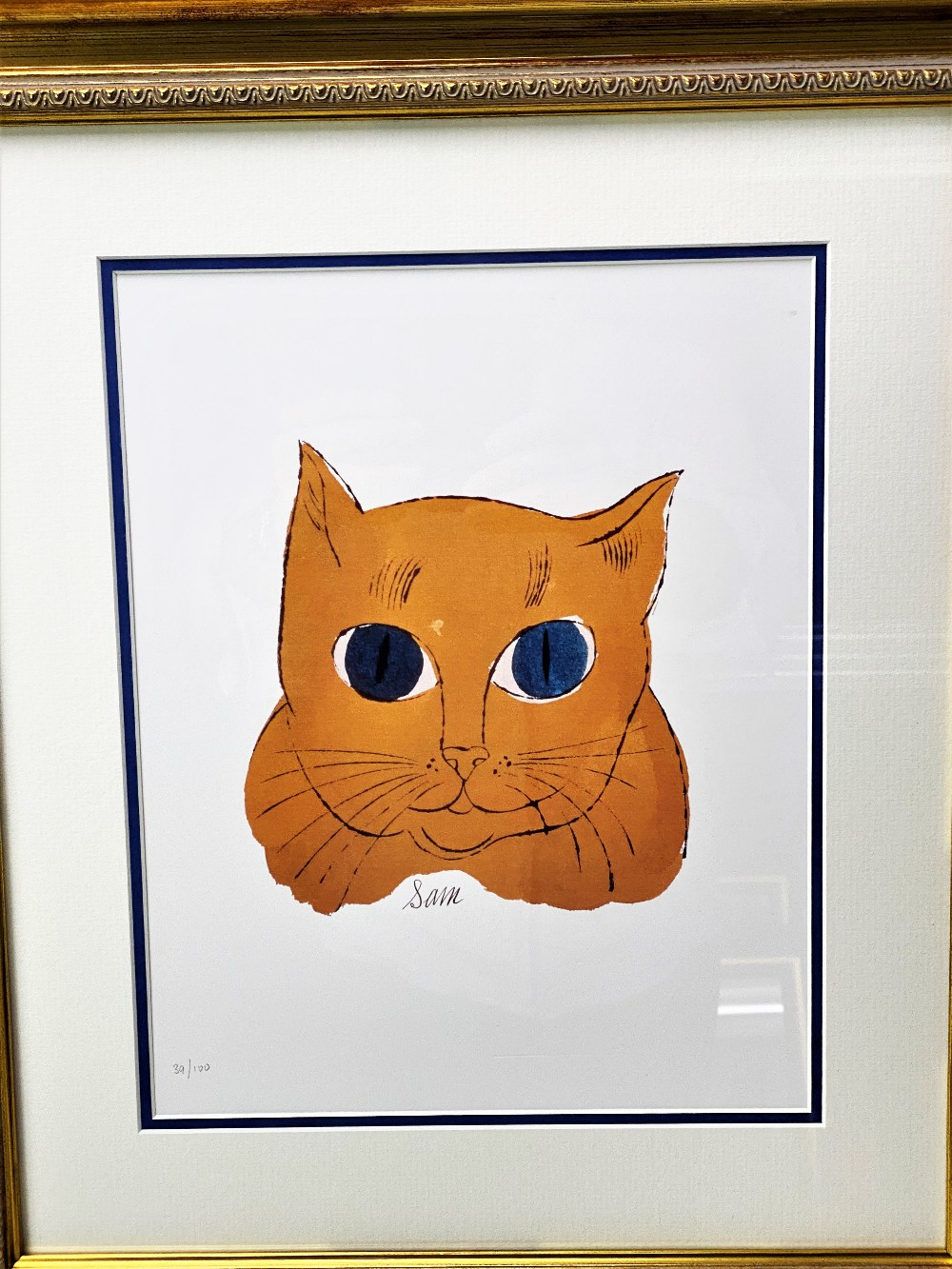 Andy Warhol 'Gold Sam' Lithograph Print/Ornate Framed - Image 2 of 5
