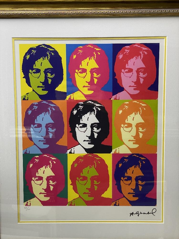 """Andy Warhol- """"John Lennon"""" Numbered Lithograph 99/100 - Image 4 of 7"""