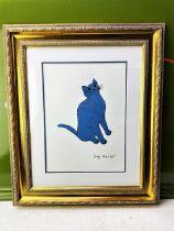 "Andy Warhol (1928-1987) ""Blue Sam"" Lithograph, Ornate Framed."