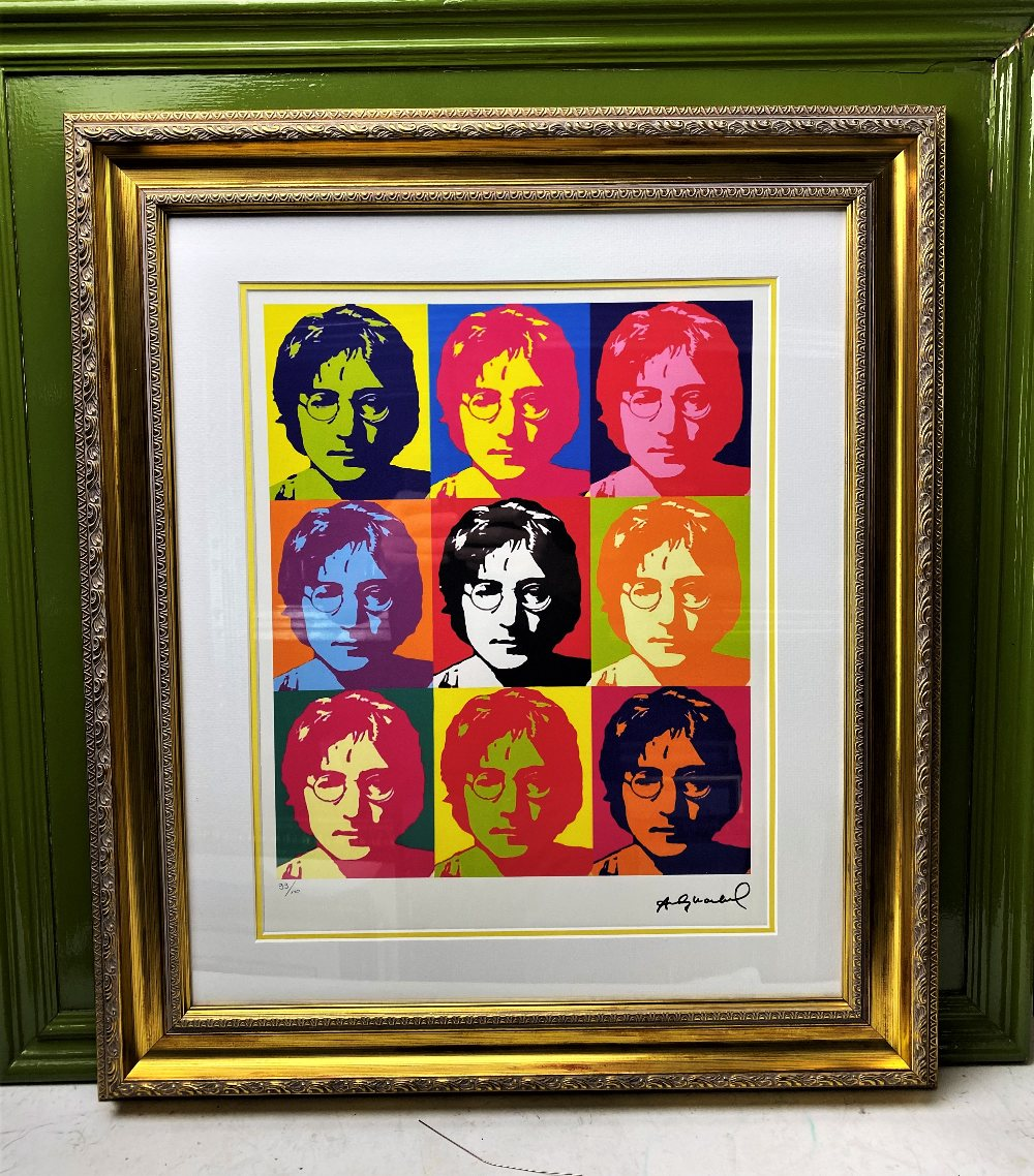 """Andy Warhol- """"John Lennon"""" Numbered Lithograph 99/100 - Image 7 of 7"""