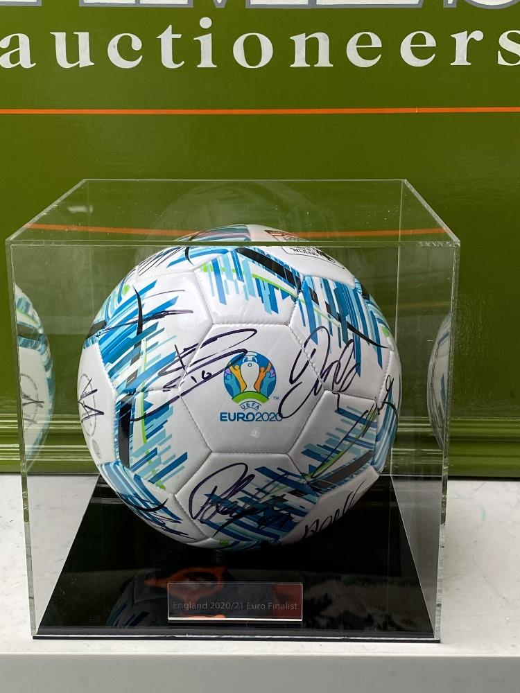 England European Finalists Signed 2020 Football & Case - Image 5 of 7