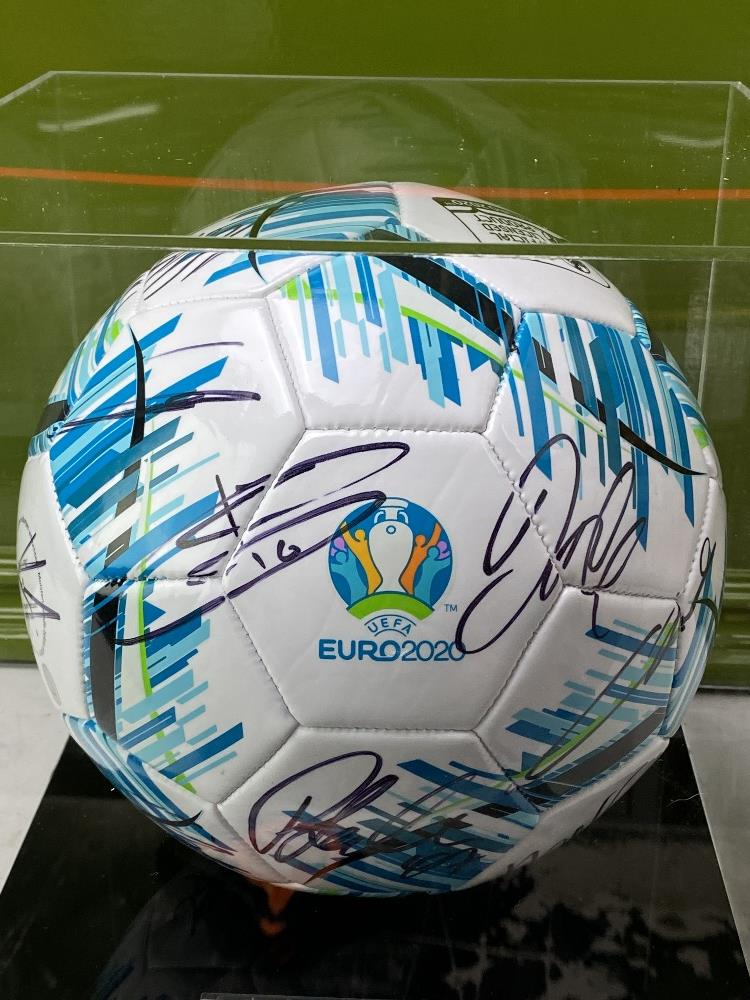 England European Finalists Signed 2020 Football & Case - Image 7 of 7