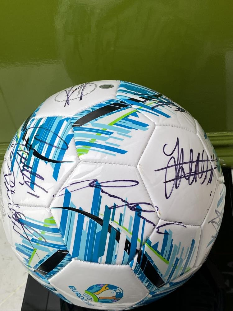 England European Finalists Signed 2020 Football & Case - Image 3 of 7