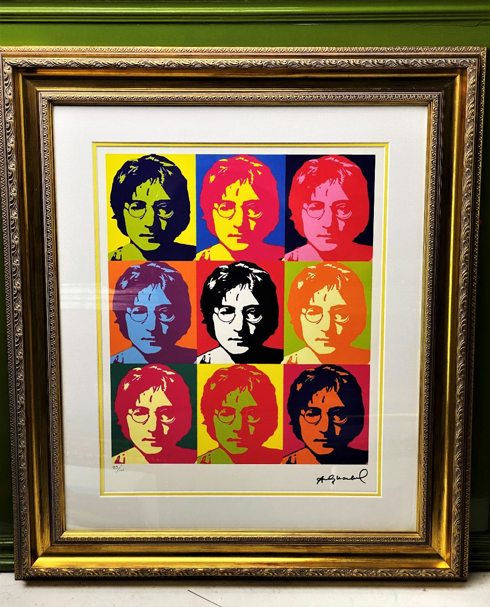 """Andy Warhol- """"John Lennon"""" Numbered Lithograph 99/100"""