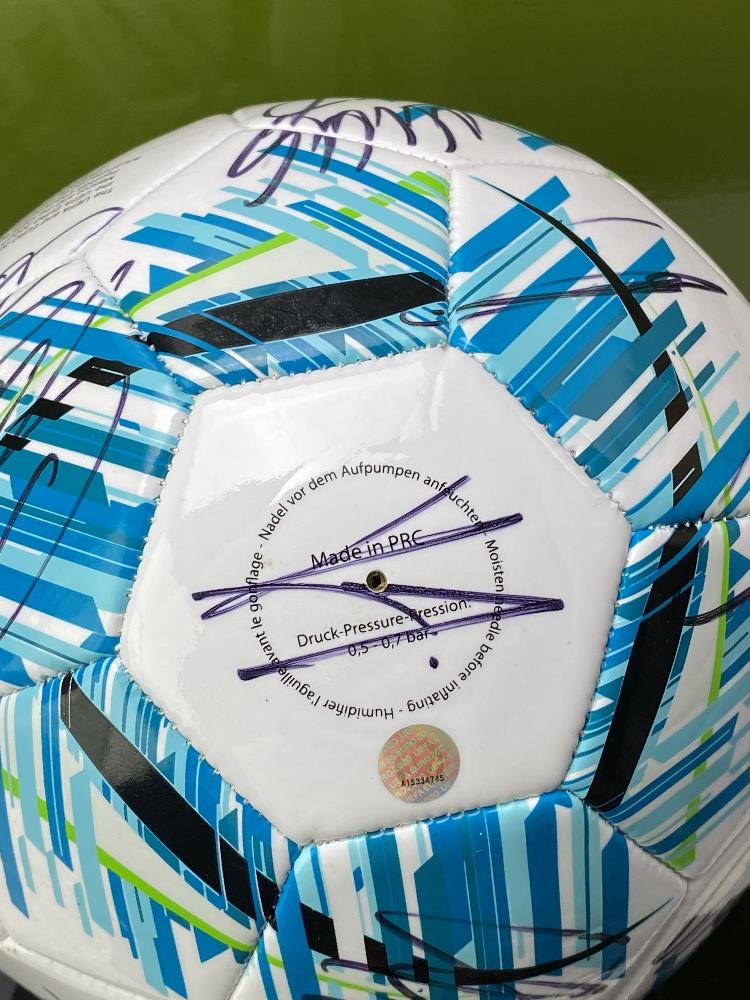England European Finalists Signed 2020 Football & Case - Image 4 of 7