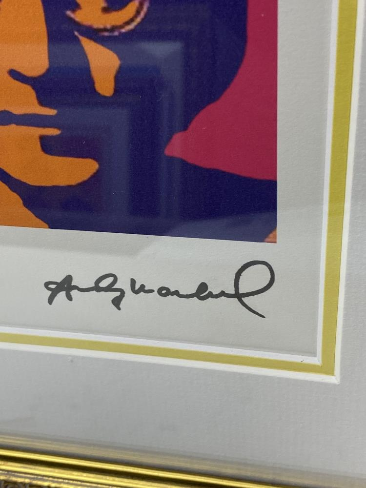 """Andy Warhol- """"John Lennon"""" Numbered Lithograph 99/100 - Image 3 of 7"""