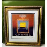 """Andy Warhol (1928-1987) """"Chanel"""" Castelli NY Original Numbered Lithograph #58/100, Ornate Framed."""