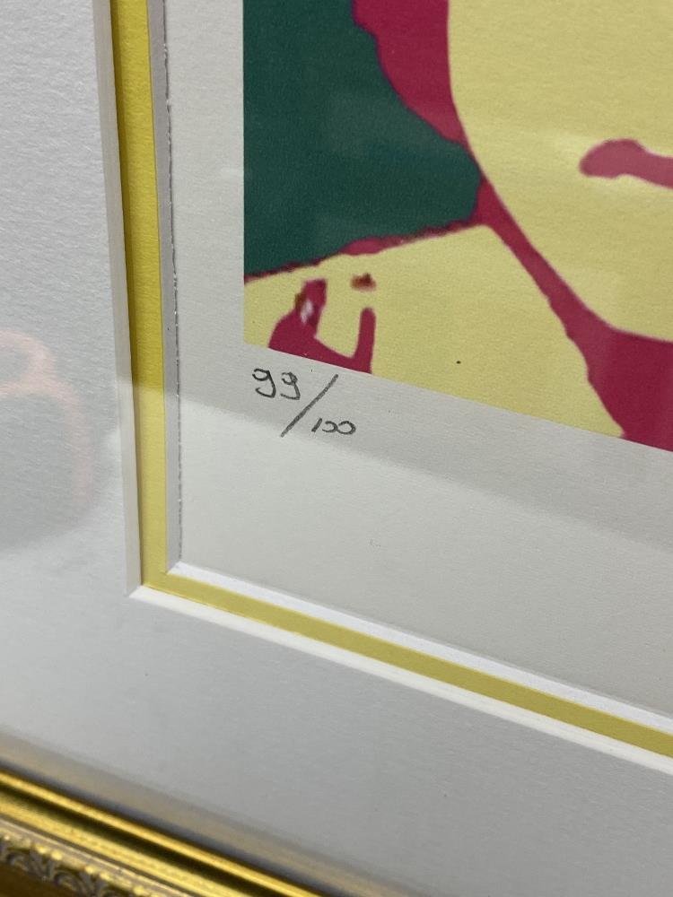 """Andy Warhol- """"John Lennon"""" Numbered Lithograph 99/100 - Image 2 of 7"""