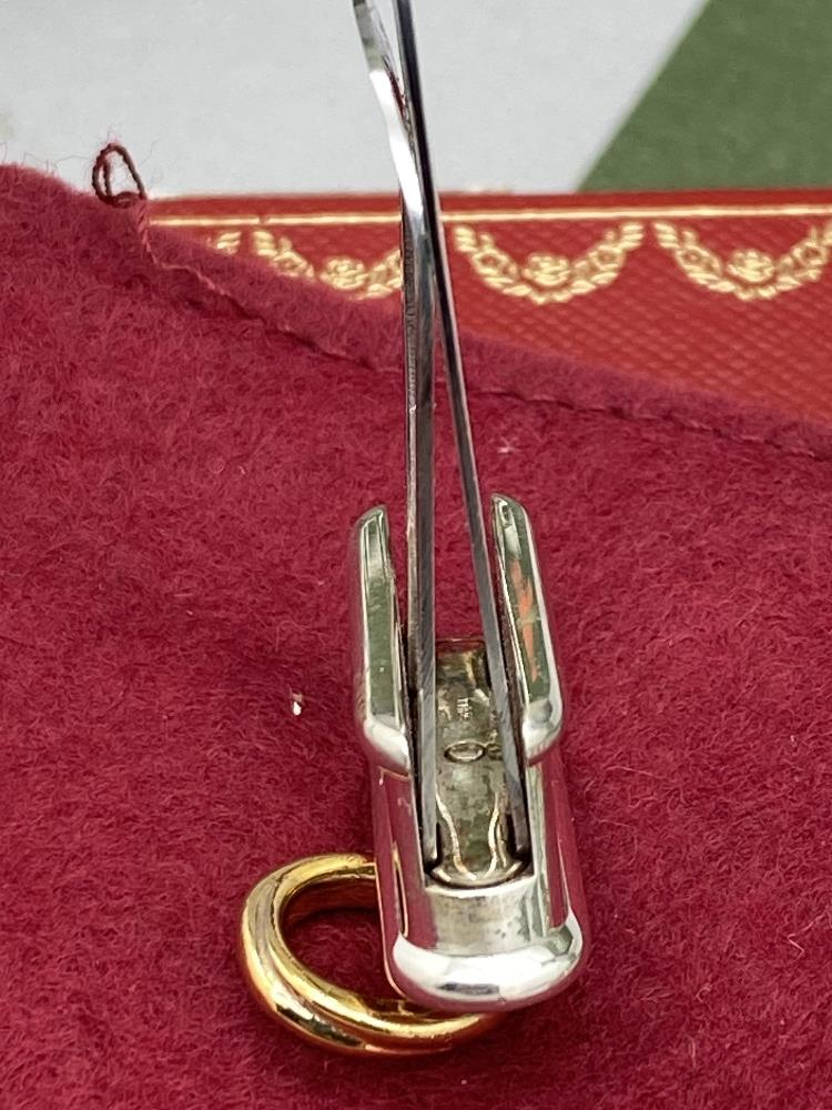 Cartier Paris -Extremely Rare Sterling Silver 925 & Gold Key Ring / Money Clip - Image 7 of 9