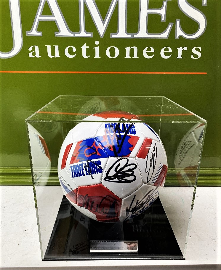 England European Finalists Signed 2020 Football & Case - Image 4 of 5