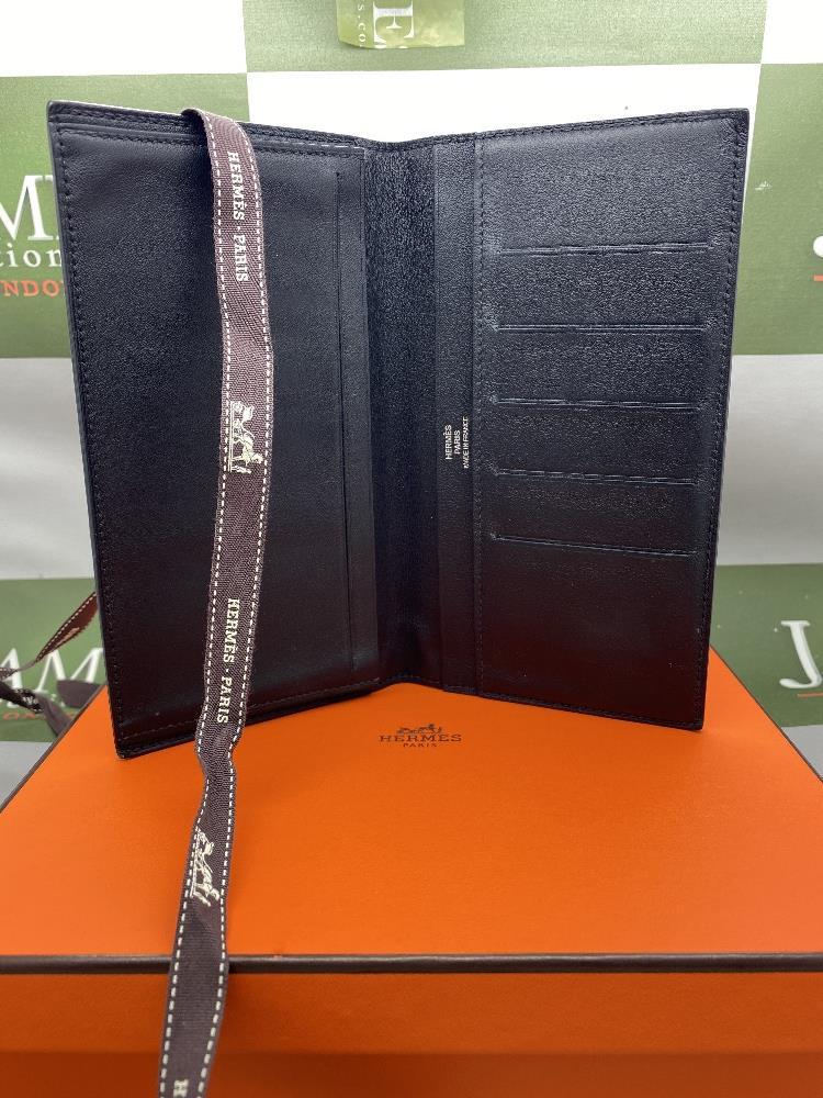 Hermes Paris Long Mens Leather Bill Wallet Monogrammed Edition - Image 5 of 5