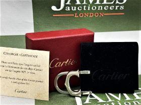 """Cartier Paris Classic """"C"""" Solid Silver Money Clip"""