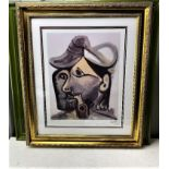 """PabloPicasso(1881 – 1973) """"Two Faces"""" Picasso Foundation Ltd Edition Lithograph #55/200"""