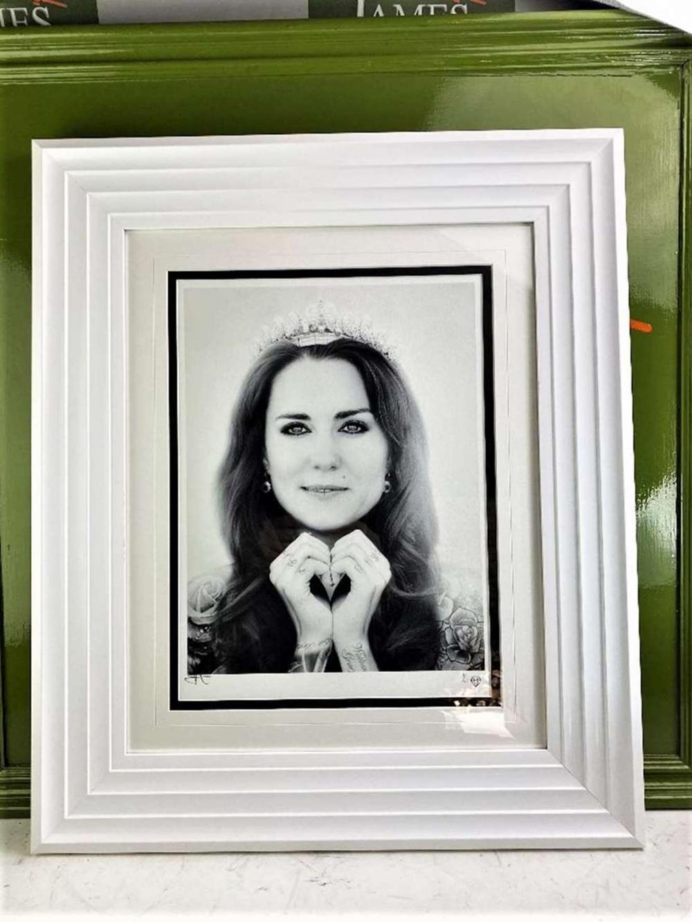 JJ Adams Kate Middleton Professionally Framed/Wishbone Edition - Image 2 of 2
