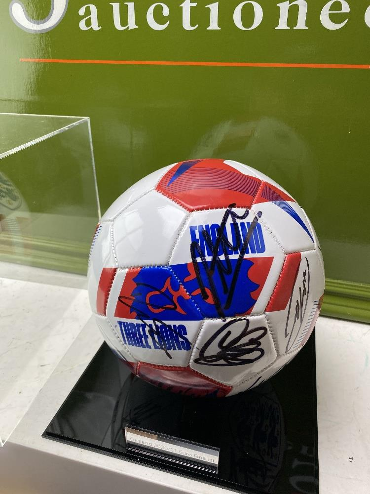 England European Finalists Signed 2020 Football & Case - Image 5 of 5