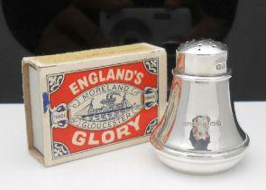 Solid Silver Hallmarked Vintage salt or Peppar Pot