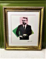 "Andy Warhol-(1928-1987) ""John Gotti""Castelli NY Original Numbered Lithograph #58/100, Ornate Framed."