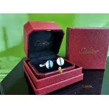 Cartier Vintage 925 Solid Silver Cufflinks & Original Case