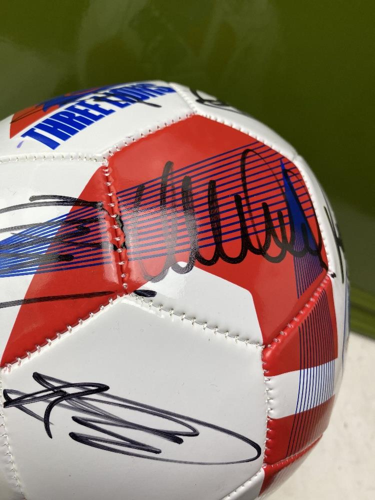 England European Finalists Signed 2020 Football & Case - Image 3 of 5
