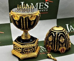 Franklin Mint House of Faberge 24 Carat Gold Imperial Jeweled Egg Chess Set