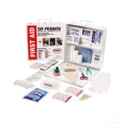 50 PERSON CONSTRUCTION-INDUSTRIAL-OFFICE FIRST AID KIT ( 4 IN A