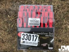 30 PC TORQ SCREWDRIVER SET W/ STORAGE RACK