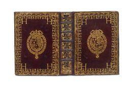 Einbanddeckel aus der Bibliothek König Ludwig XIII. von Frankreich (1601-1643). Brauner Mar