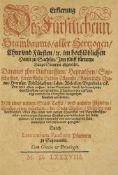 Sachsen - - Lorenz (Laurentius Faustus) Faust. Erklerung des Fürstl. Stammbaums alle