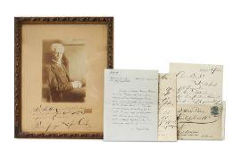 Siegfried Ochs. Sammlung von 4 eigenhändigen und einem maschinenschriftlichen Brief (1909-1
