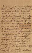 Klemens Wenzel Lothar von Metternich. Eigenhändiger Brief des österr. Diplomaten und Sta