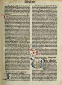 Inkunabeln - Biblia latina - - Johannes Herbort von Seligenstadt (Hrsg.) Hieronymus (Übe