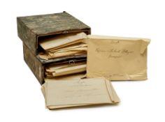 Sehr umfangreicher Teilnachlass literarischer Korrespondenzen von Ella Triebnigg-Stockinger. Mit