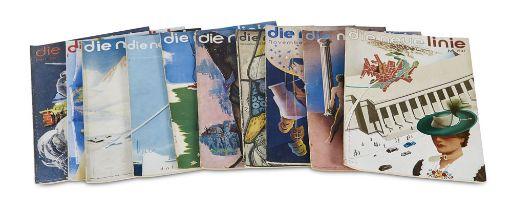 Art Déco Die neue Linie. Sammlung von 67 Heften der Zeitschrift.