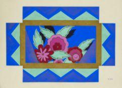 Art Déco - Kunstgewerbe Sammlung von 20 prachtvollen Original-Entwürfen des Atelier Pichon.