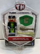 9 x Various Tube Heroes Figures | 681326100546 | 681326100515 | 681326100553