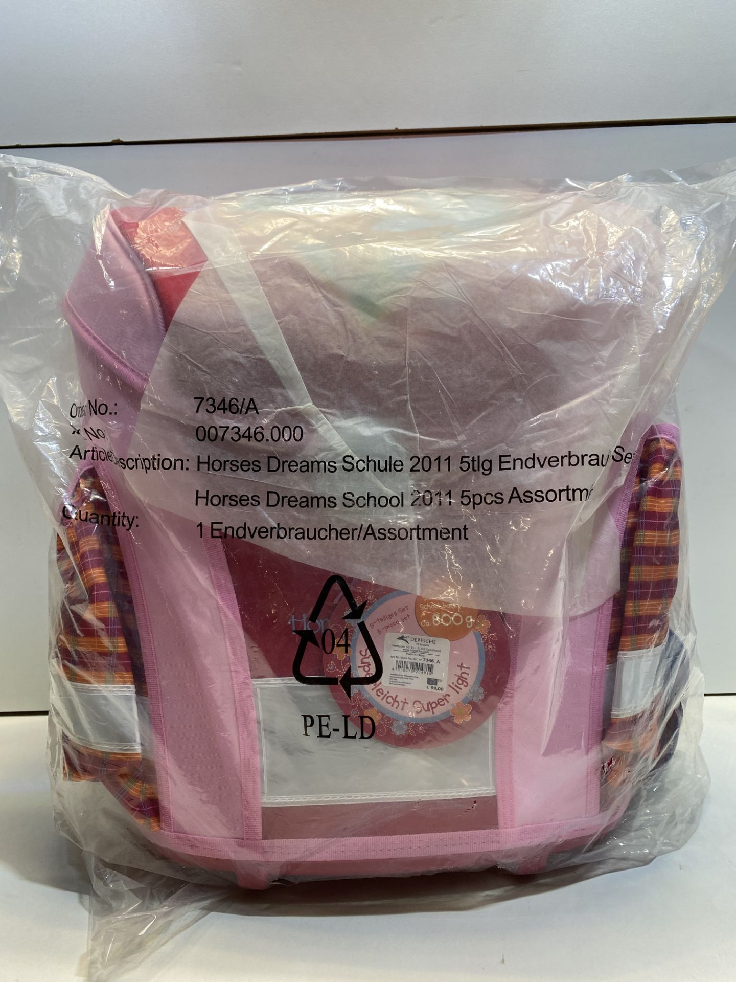 1 x Depesche Horses Dreams school satchel set 5 pieces   4010070204815