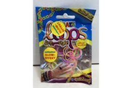 15 x Craze Loops - Mix-Pack, 100 pieces, neon | 4260278550645