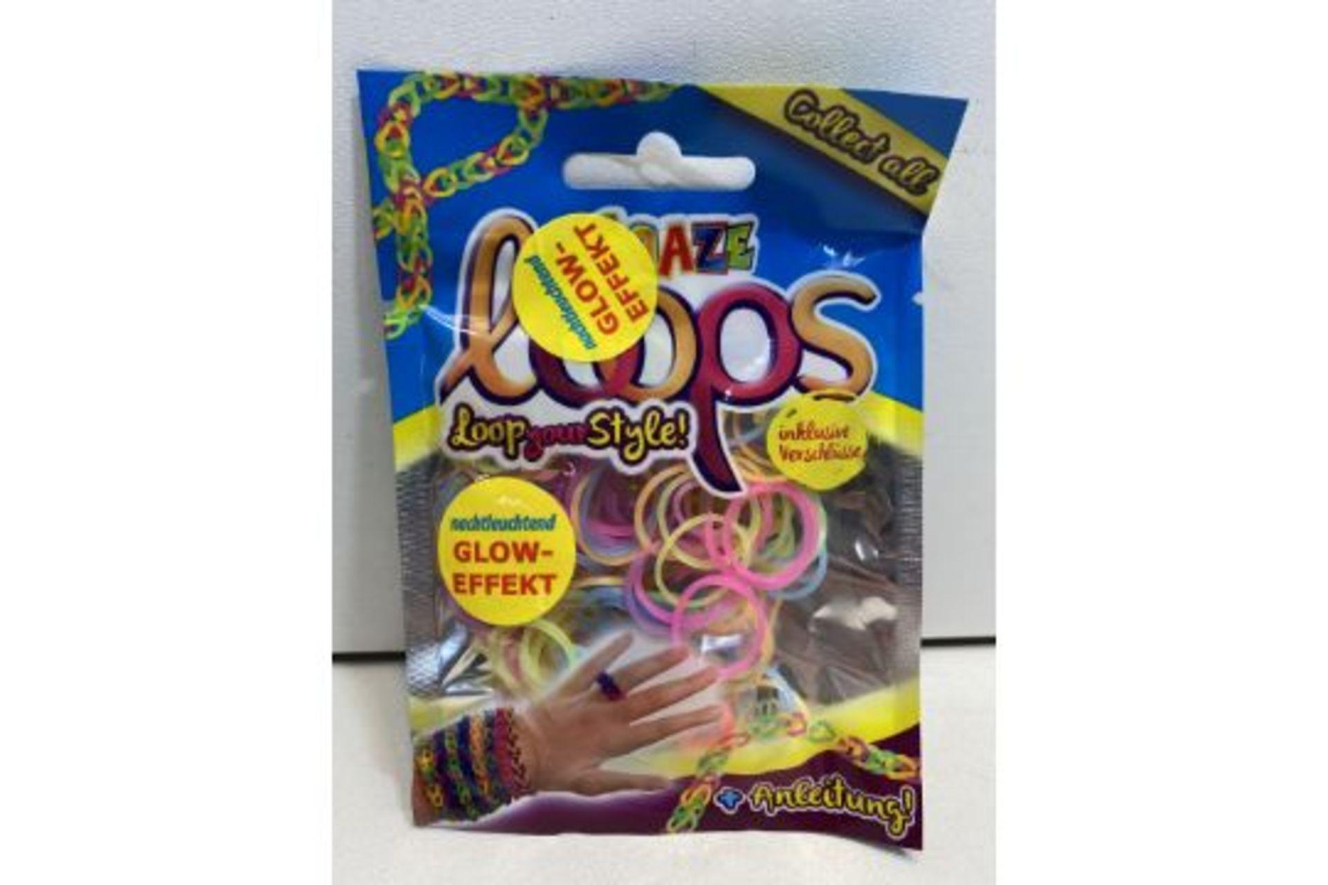 15 x Craze Loops - Mix-Pack, 100 pieces, neon | 4260278550645