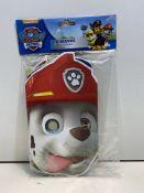 5 x Paw Patrol Paper Masks ( 8 Per Pack) | 13051557331