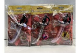 12 x Disney Pirates Of The Caribbean Lip Gloss Sword Key Chains | 719565245213