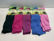 5 x Various Coloured Womens David James Wellington Boot Socks | 5019041014155