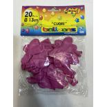 6 x Packets Of Pink Heart Rubber Balloons (20 per Pack) | 8010052557942