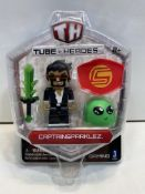 "6 x Captain Sparklez 3"" Inch Figure Tube Heroes with Accessories 