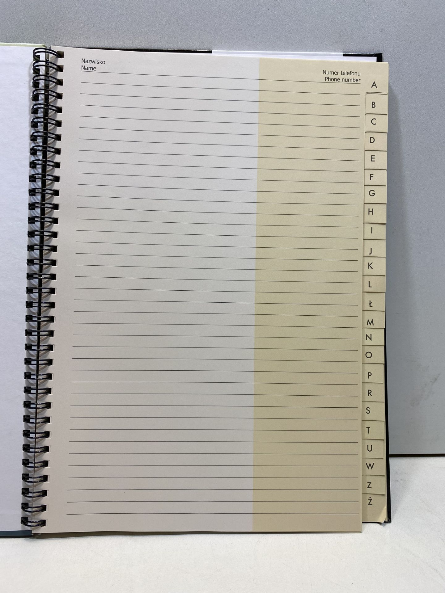 3 x Interdruk SKA4F Spiral Hardcover Address Book A4= with Index, Multi-Colour   5902277171108 - Image 3 of 3