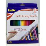 7 x Helix Colouring Pencils - Full Size Hexagonal | 079252328767