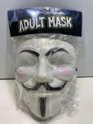 6 x GUY FAWKES Evil Grin Mask Purge Scary Halloween Fancy Dress Costume Accessory | 5051090221252